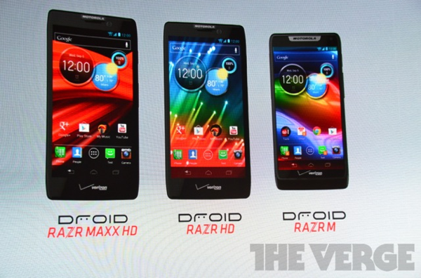 Three new Motorola Droid Razr