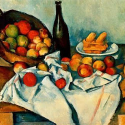 Paul Cezanne (1890-1894):Still Life with Basket of Apples. Instituto de Arte de Chicago. Chicago. Postimpresionismo