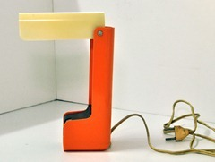 orange folding table lamp