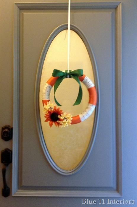 Yarn Wreath Door
