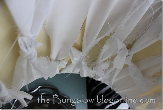 lampshade cotton strips