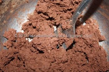 Chocolate Flour-less Condensed Milk Cake -  cocoa ground almonds