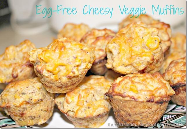 Egg-Free Cheesy Veggie Muffins