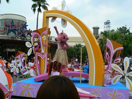 Imagini Universal Studios Osaka: Pantera Roz la parada