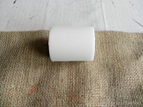 roll candles in burlap center