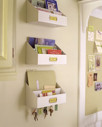 No need to clutter counters with mail. Simply peg these personal mailboxes to the wall to free up more space.