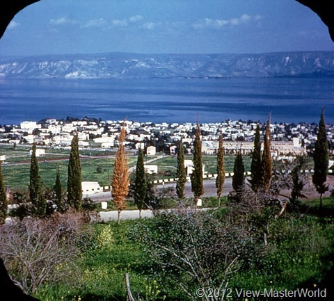 View-Master Modern Israel (B224), Scene 19: Tiberias and the Sea of Galilee