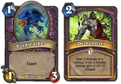 Hearthstone - Warlock - Voidwalker, Demonfire