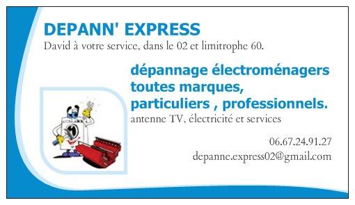 Bonjour Voici Ma Nouvelle Carte De Visite David Depannexpress Au 0667249127 Repare Vos Electromenagers Depannage Electricite