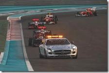 Una fase del gran premio di Abu Dhabi 2010