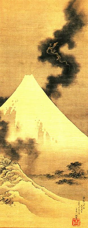 Hokusai-FujiSmokeDragon