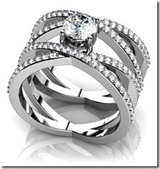 Anjolee Quad Strand Diamond Anniversary Ring