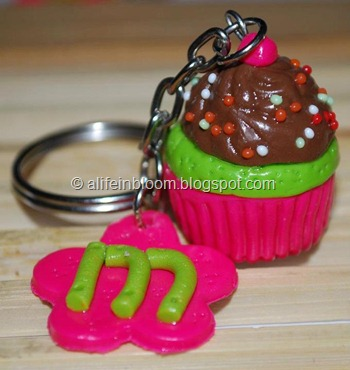 polymer clay cupcake