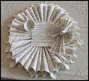 Interest Class Option - Hymnal Wreath Craft