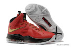 lbj10 fake colorway red black gold 1 02 Fake LeBron X