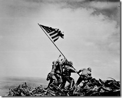 &quot;Flag raising on Iwo Jima.&quot; Joe Rosenthal, Associated Press, February 23, 1945. 