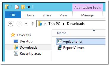Executing the Web Platform Installer launcher executable.