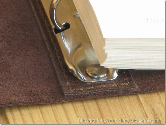 мягкий кожаный блокнот на кольцах