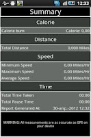 Screenshot of Calorie Counter GPS Run&Walk