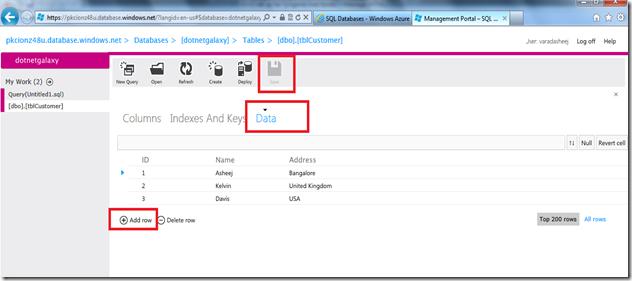 14 Add Data by clicking add Data tab