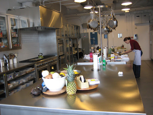 Another view of the new space. Vanessa is our freelance recipe tester, and she does a great job.