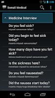 Screenshot of Somali Medical Phrases