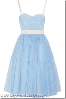 D& GLayered tulle dress