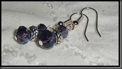 lilla krystall øredobber