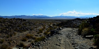 Old Dale Road over the Pinto Mountains