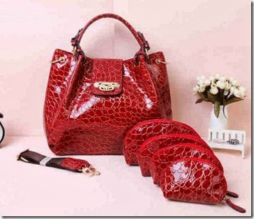 SY LV Cerco Croco Red (360.000), 32 x 19 x 26