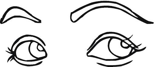 Figuras de ojos para recortar - Imagui