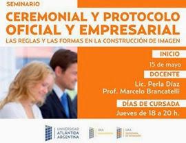 Abierta la Inscripción para el Seminario: Ceremonial y Protocolo Oficial y Empresarial
