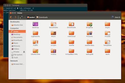Nautilus 3.4 con le patch SolusOS su Ubuntu 13.04 Raring