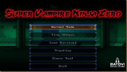 Super Vampire Ninja Zero タイトル