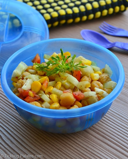 Corn Chickpeas Salad