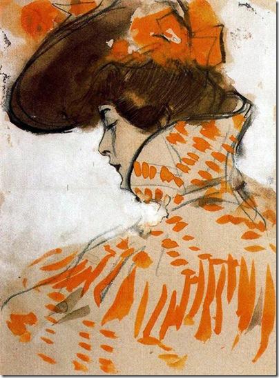 ramon casas i carbo_Busto dama 1900