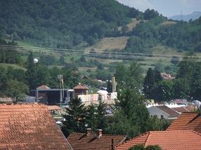 Guča desde el camping