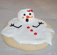 snowman cookie..Im melting