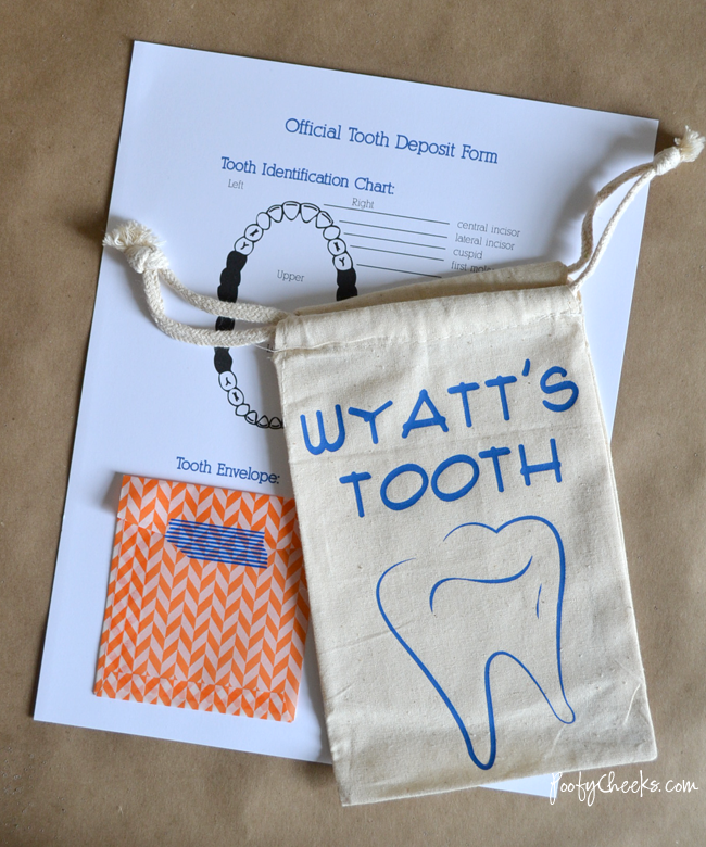 Official Tooth Deposit Form Printable - Fill out for the tooth fairy