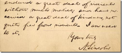 Letter to James H. Hackett from Abraham Lincoln, November 2, 1863