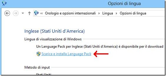 Windows 8 Scarica e Installa Language Pack