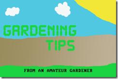 Gardening Tip