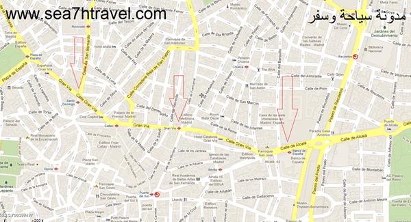 خريطة مدريد