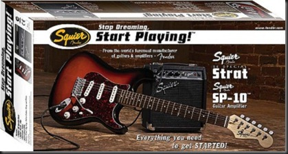 squier strat stop dreaming start playing
