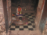 Shivalingam inside the sanctum