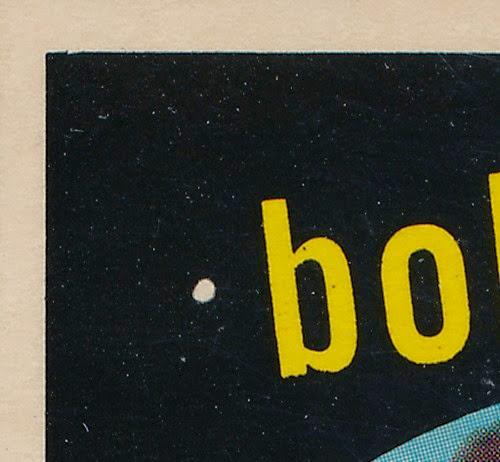1959 Topps 356 Bob Mabe variation