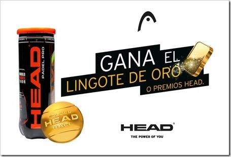 Gana el lingote oro con HEAD pádel gracias a la acción Golden Ball de la marca.