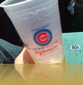 cubs beer cup