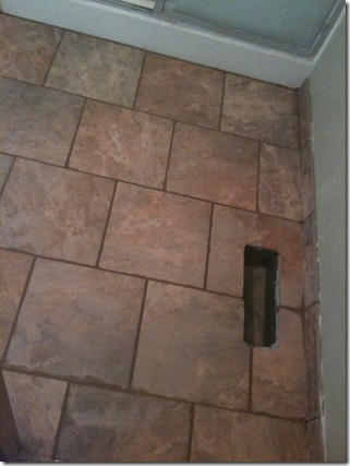flooring in back bathroom