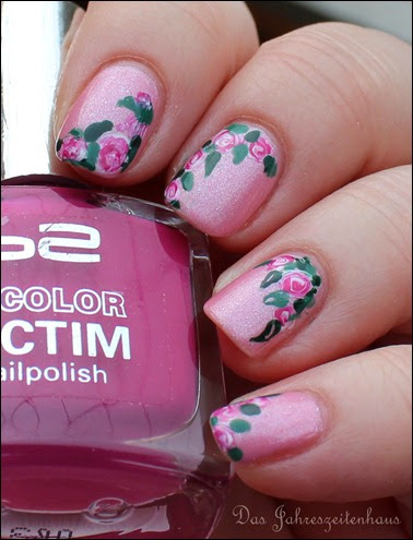 00 Roses in Bloom Nail Art Rosen Blüten Rosa 6